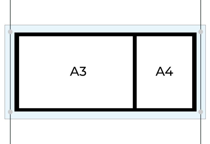 Verlichte immo display DESIGN (combi)