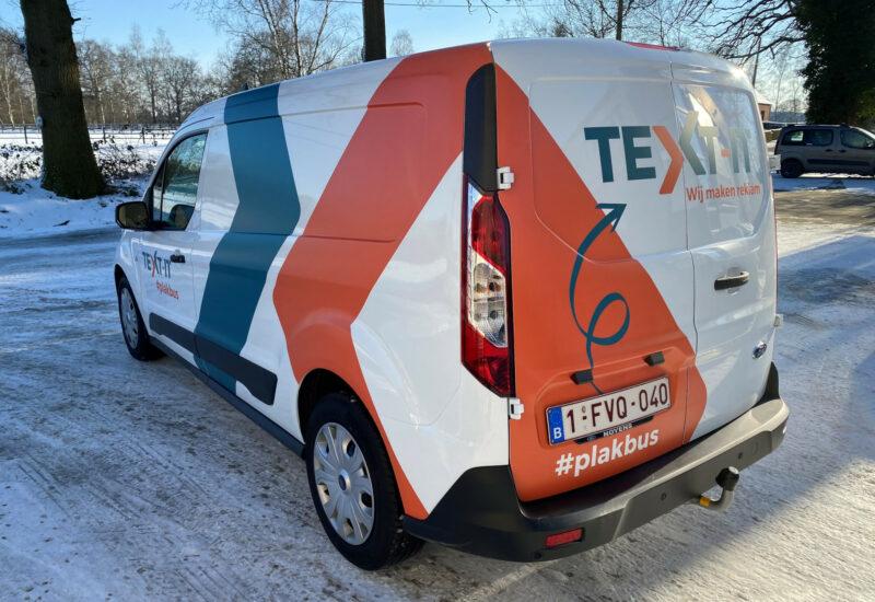 Wagenbelettering Plakbus TEXT-IT