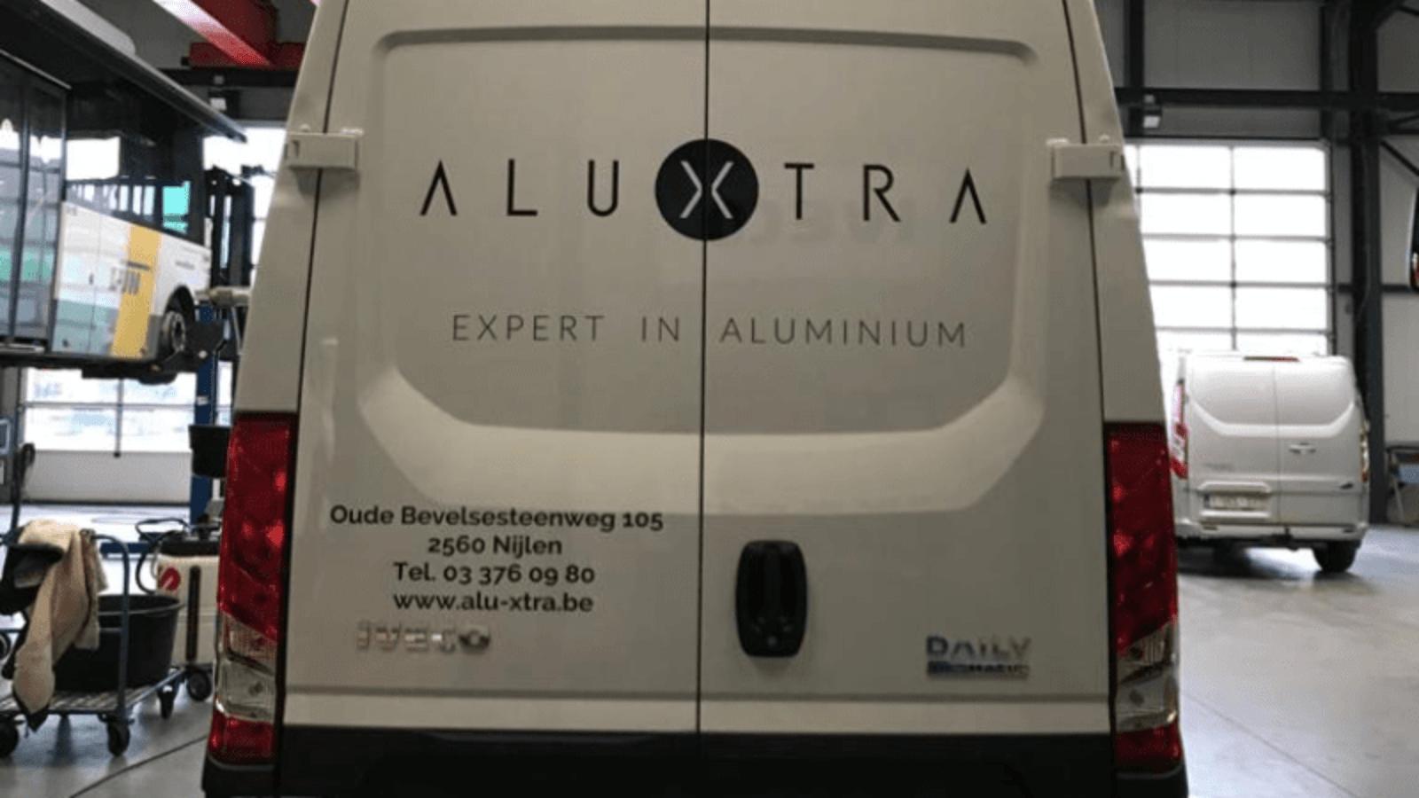 wagenbelettering alu-xtra 2