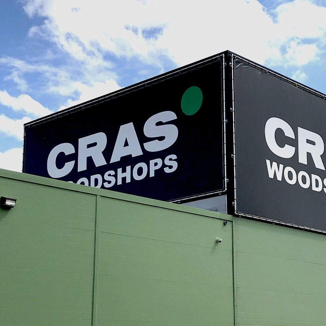 buitenreclame cras woodshops