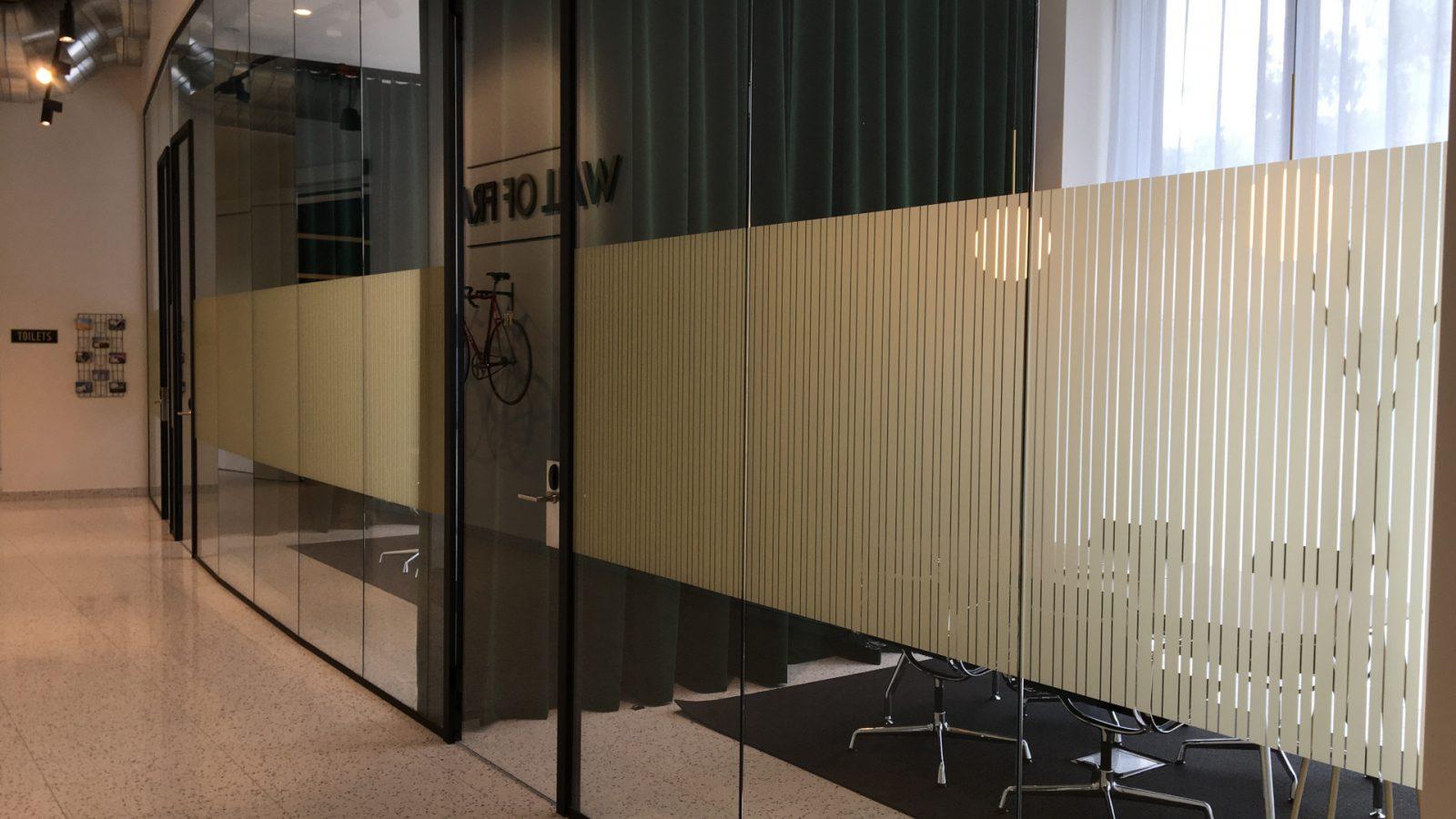 glasfolie vergaderruimtes